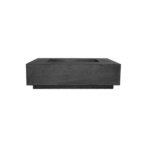 Image of Prism Hardscapes Tavola 1 Concrete Gas Fire Pit PH-405, 56x38-Inch Gas Fire Pit Prism Hardscapes Natural Gas Ebony