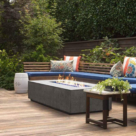 Image of Prism Hardscapes Tavola 1 Concrete Gas Fire Pit PH-405, 56x38-Inch Gas Fire Pit Prism Hardscapes