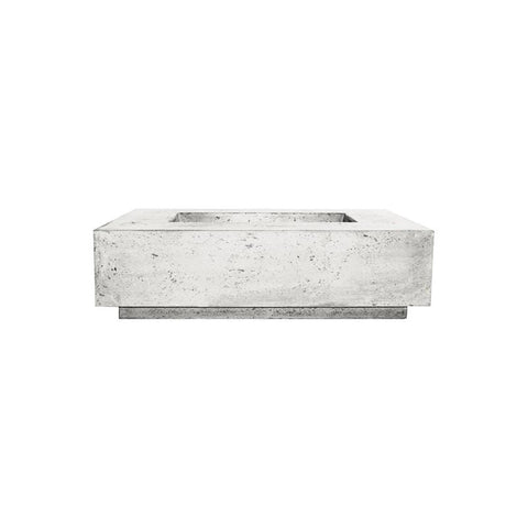 Image of Prism Hardscapes Tavola 1 Concrete Gas Fire Pit PH-405, 56x38-Inch Gas Fire Pit Prism Hardscapes Natural Gas Ultra White