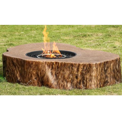 Image of Teva Patio Furniture Log GRC Fire Pit 300-L Fire Pit Teva Patio Furniture