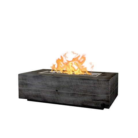 Image of The Outdoor Plus Coronado Wood Grain Fire Pit OPT-COR108 Fire Pit The Outdoor Plus Ebony Electronic Ignition Natural Gas