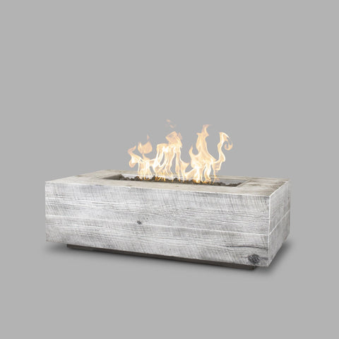 Image of The Outdoor Plus Coronado Wood Grain Fire Pit OPT-COR120 Fire Pit The Outdoor Plus Ivory Electronic Ignition Natural Gas