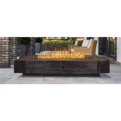 Image of The Outdoor Plus Coronado Wood Grain Fire Pit OPT-COR120 Fire Pit The Outdoor Plus