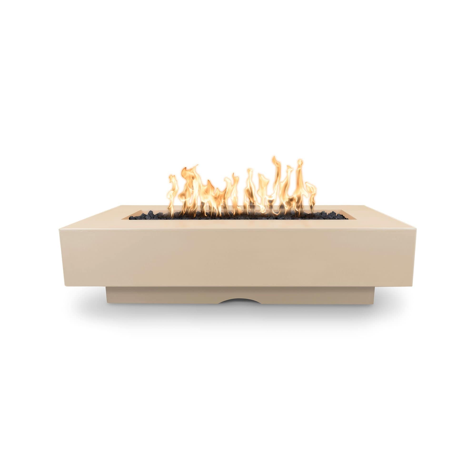 "The Outdoor Plus Del Mar Concrete Fire Pit 84"" Model OPT-DEL8428 Fire Pit The Outdoor Plus Vanilla Electronic Ignition Natural Gas"
