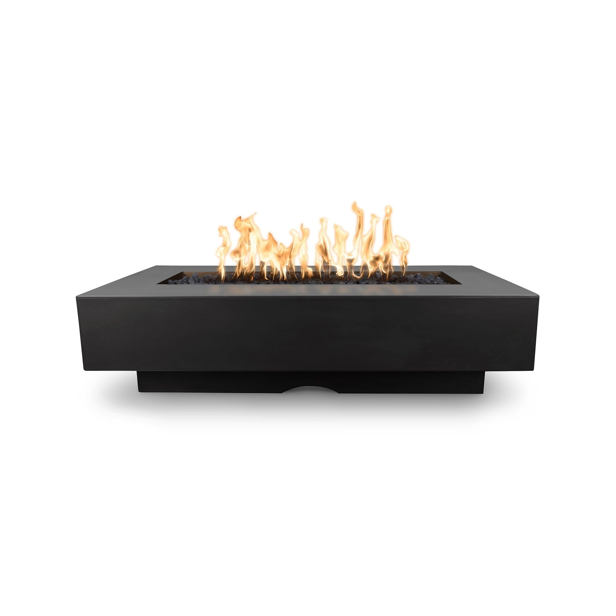 "The Outdoor Plus Del Mar Concrete Fire Pit 84"" Model OPT-DEL8428 Fire Pit The Outdoor Plus Black Electronic Ignition Natural Gas"