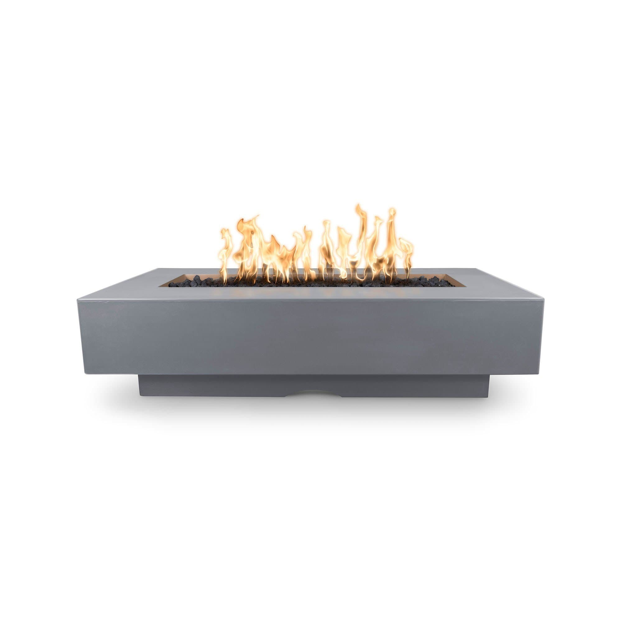 "The Outdoor Plus Del Mar Concrete Fire Pit 84"" Model OPT-DEL8428 Fire Pit The Outdoor Plus Gray Electronic Ignition Natural Gas"