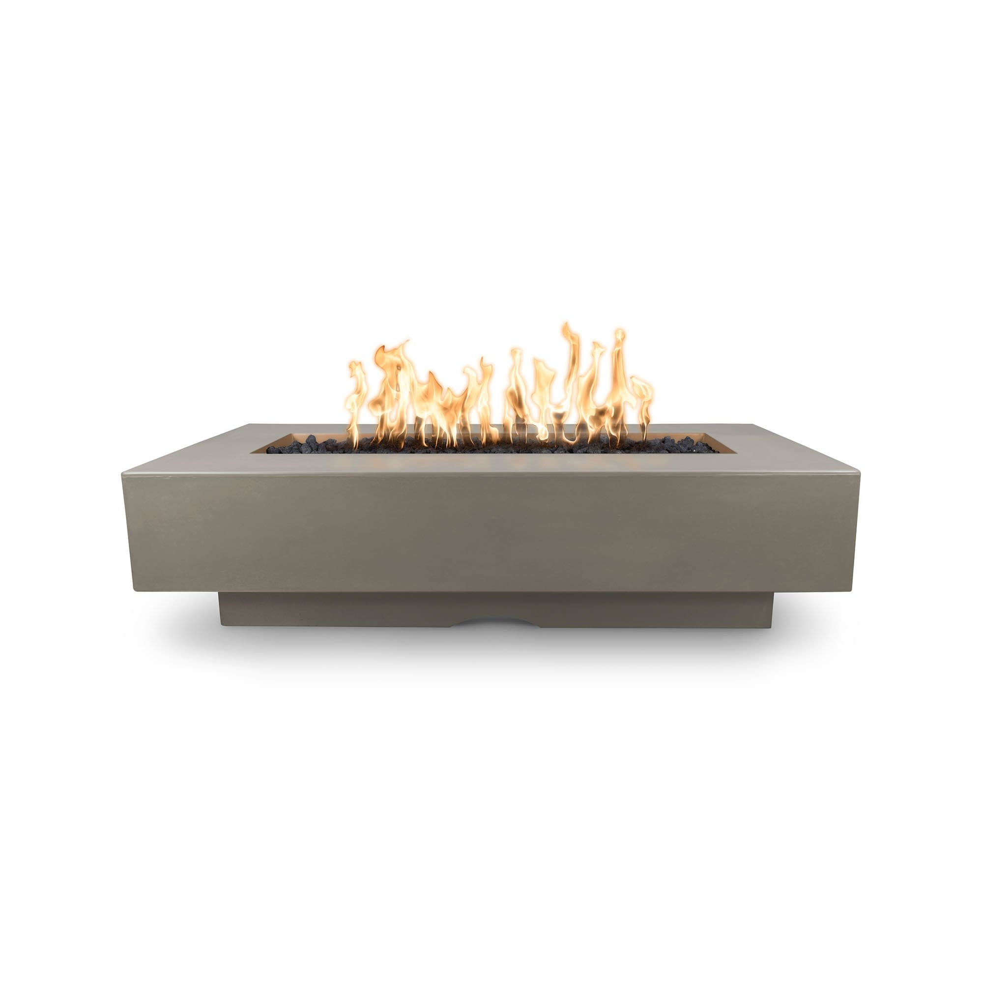 "The Outdoor Plus Del Mar Concrete Fire Pit 84"" Model OPT-DEL8428 Fire Pit The Outdoor Plus Ash Electronic Ignition Natural Gas"