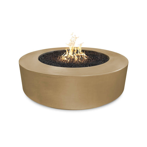 "Image of The Outdoor Plus Florence 54"" Concrete Fire Pit OPT-FL54 Fire Pit The Outdoor Plus Brown Electronic Ignition Natural Gas"