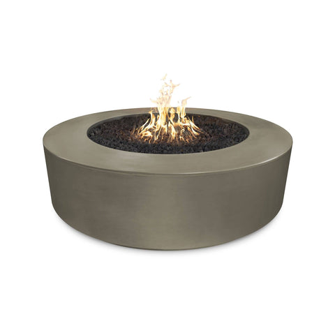 "Image of The Outdoor Plus Florence 54"" Concrete Fire Pit OPT-FL54 Fire Pit The Outdoor Plus Ash Electronic Ignition Natural Gas"