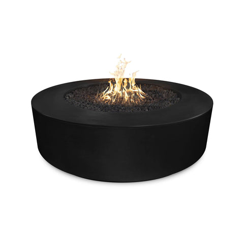 "Image of The Outdoor Plus Florence 54"" Concrete Fire Pit OPT-FL54 Fire Pit The Outdoor Plus Black Electronic Ignition Natural Gas"
