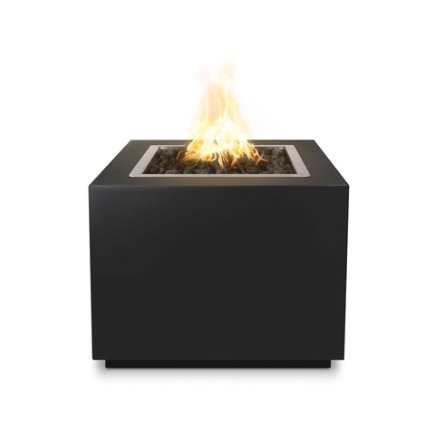 "Image of The Outdoor Plus Forma 30"" Fire Pit OPT-30PCSQ Fire Pit The Outdoor Plus Black Powdercoat Electronic Ignition Natural Gas"