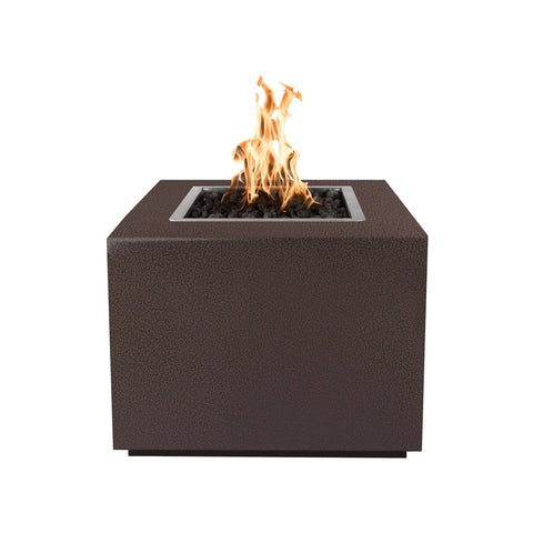 "Image of The Outdoor Plus Forma 30"" Fire Pit OPT-30PCSQ Fire Pit The Outdoor Plus Copper Vein Powdercoat Electronic Ignition Natural Gas"