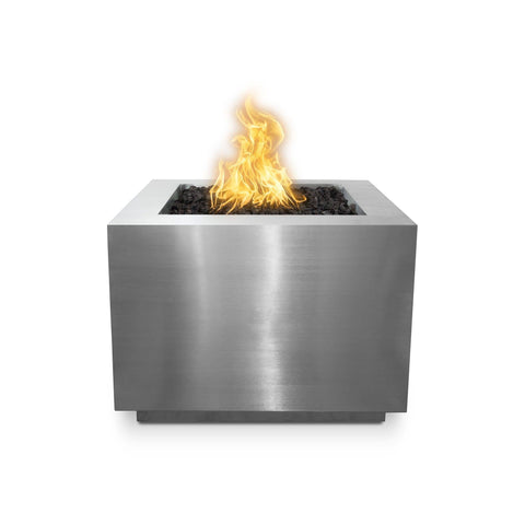 "Image of The Outdoor Plus Forma 36"" Fire Pit OPT-36PCSQ Fire Pit The Outdoor Plus Stainless Steel Electronic Ignition Natural Gas"