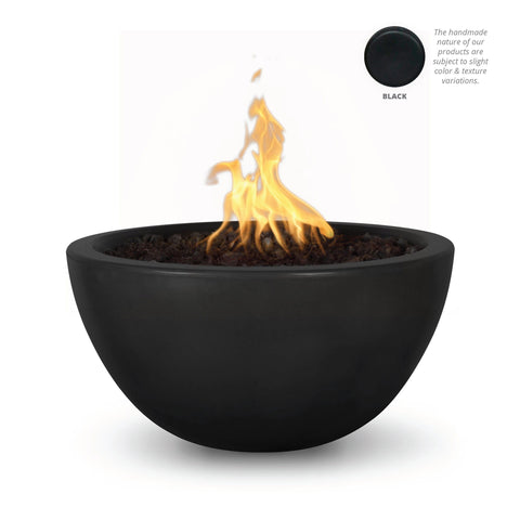"Image of The Outdoor Plus Luna 38"" Concrete Fire Pit OPT-LUN38 Fire Pit The Outdoor Plus Black Electronic Ignition Natural Gas"