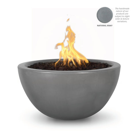 "Image of The Outdoor Plus Luna 38"" Concrete Fire Pit OPT-LUN38 Fire Pit The Outdoor Plus Natural Gray Electronic Ignition Natural Gas"