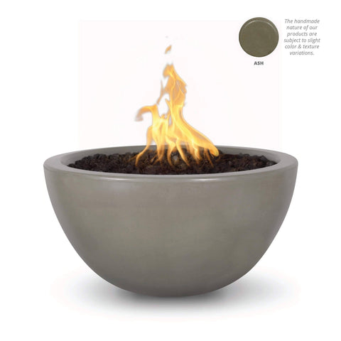 "Image of The Outdoor Plus Luna 38"" Concrete Fire Pit OPT-LUN38 Fire Pit The Outdoor Plus Ash Electronic Ignition Natural Gas"