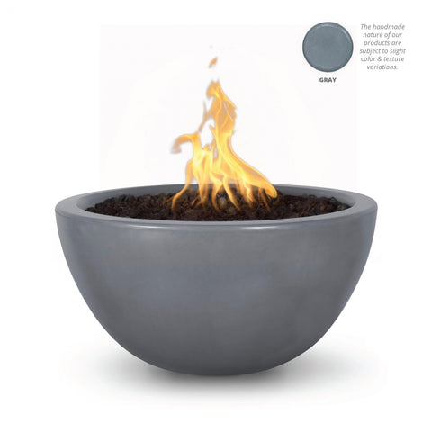"Image of The Outdoor Plus Luna 38"" Concrete Fire Pit OPT-LUN38 Fire Pit The Outdoor Plus Gray Electronic Ignition Natural Gas"