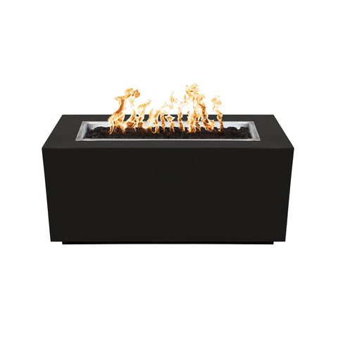 Image of The Outdoor Plus Pismo Metal Fire Pit OPT-R4824PCR Fire Pit The Outdoor Plus Black Powdercoat Electronic Ignition Natural Gas