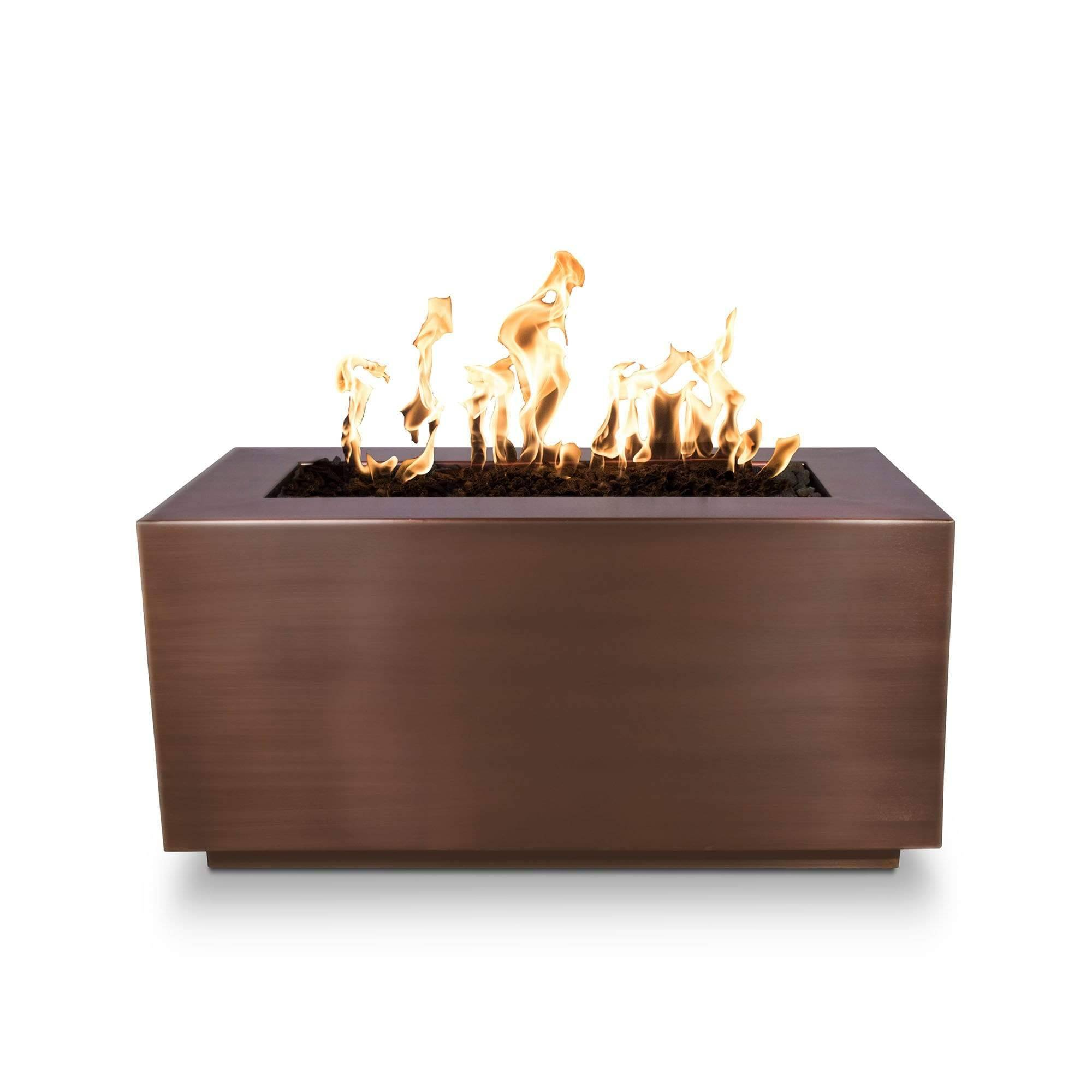 The Outdoor Plus Pismo Metal Fire Pit OPT-R8424 Fire Pit The Outdoor Plus Hammered Copper Electronic Ignition Natural Gas