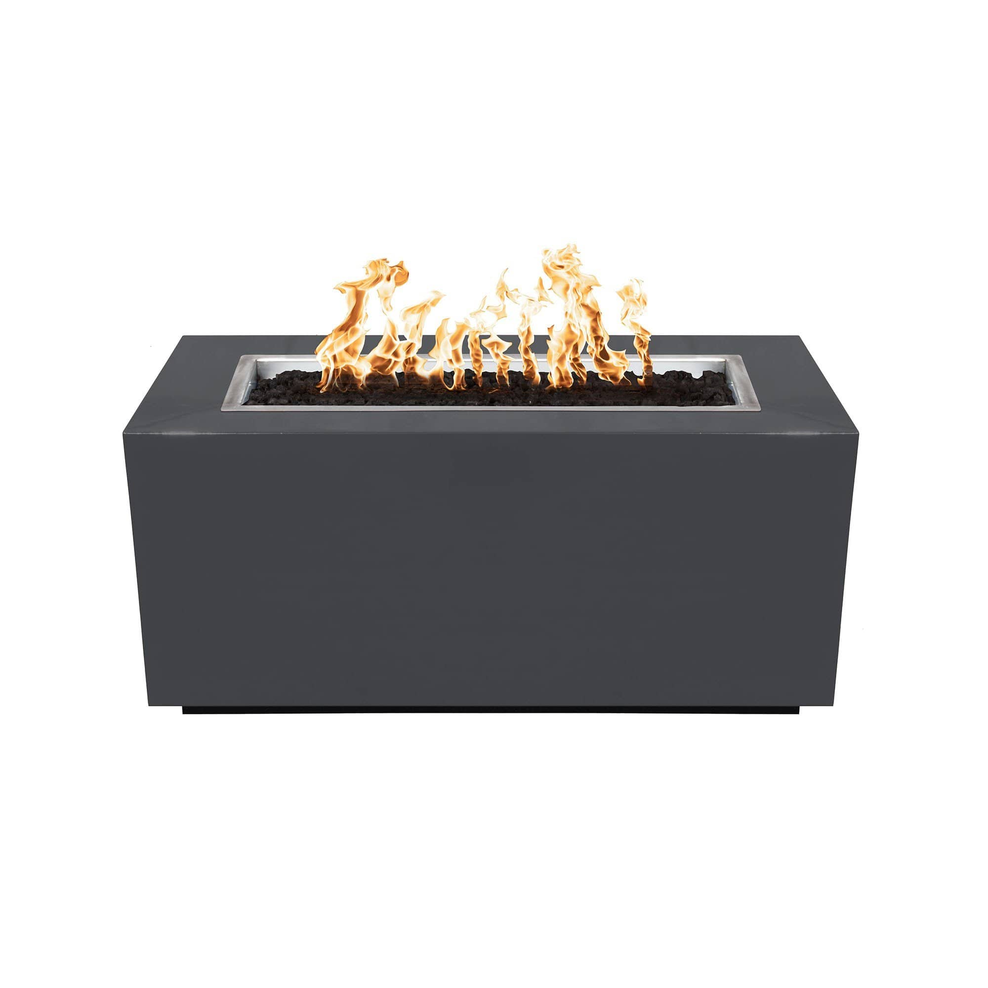 The Outdoor Plus Pismo Metal Fire Pit OPT-R8424 Fire Pit The Outdoor Plus Gray Powdercoat Electronic Ignition Natural Gas