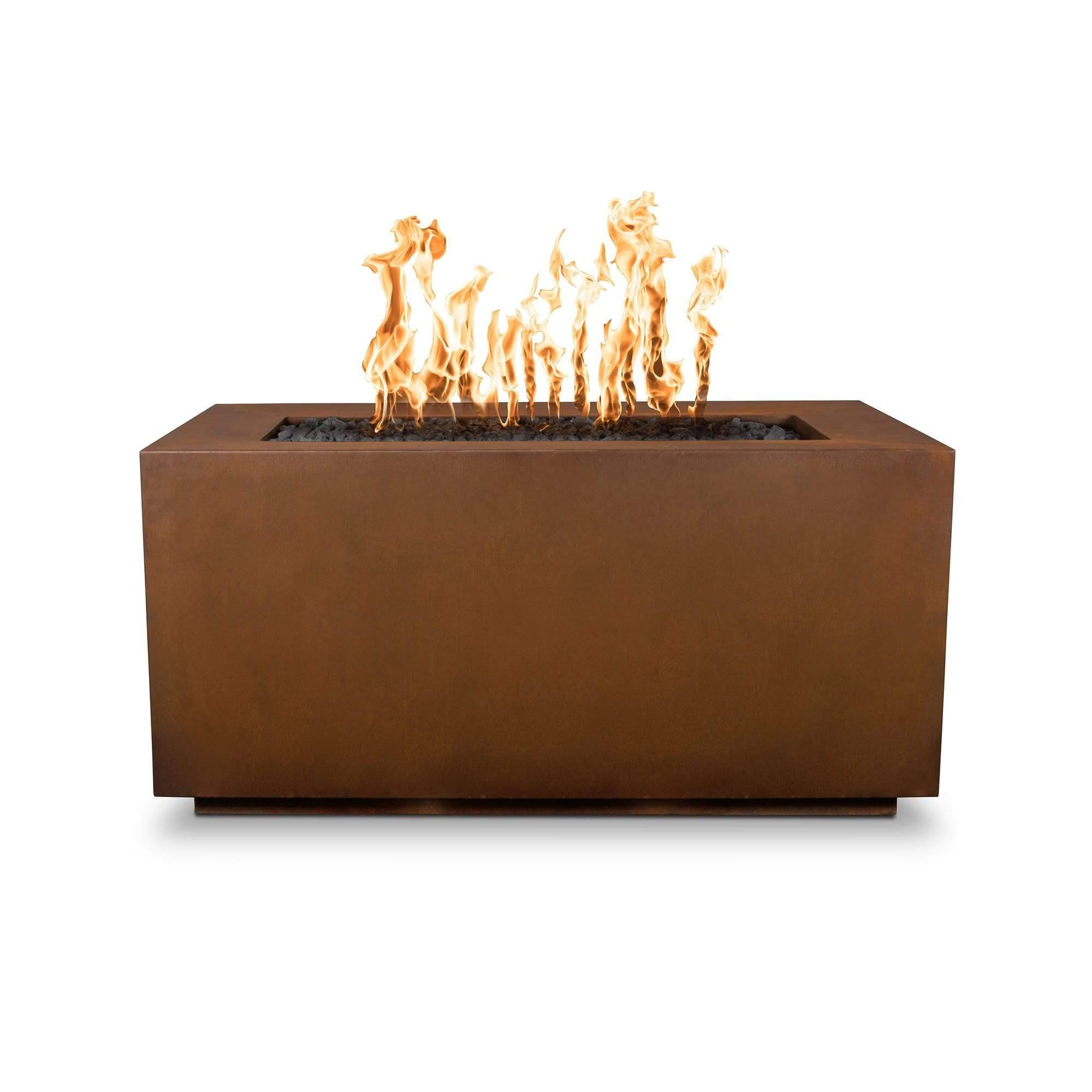 The Outdoor Plus Pismo Metal Fire Pit OPT-R8424 Fire Pit The Outdoor Plus Corten Steel Electronic Ignition Natural Gas