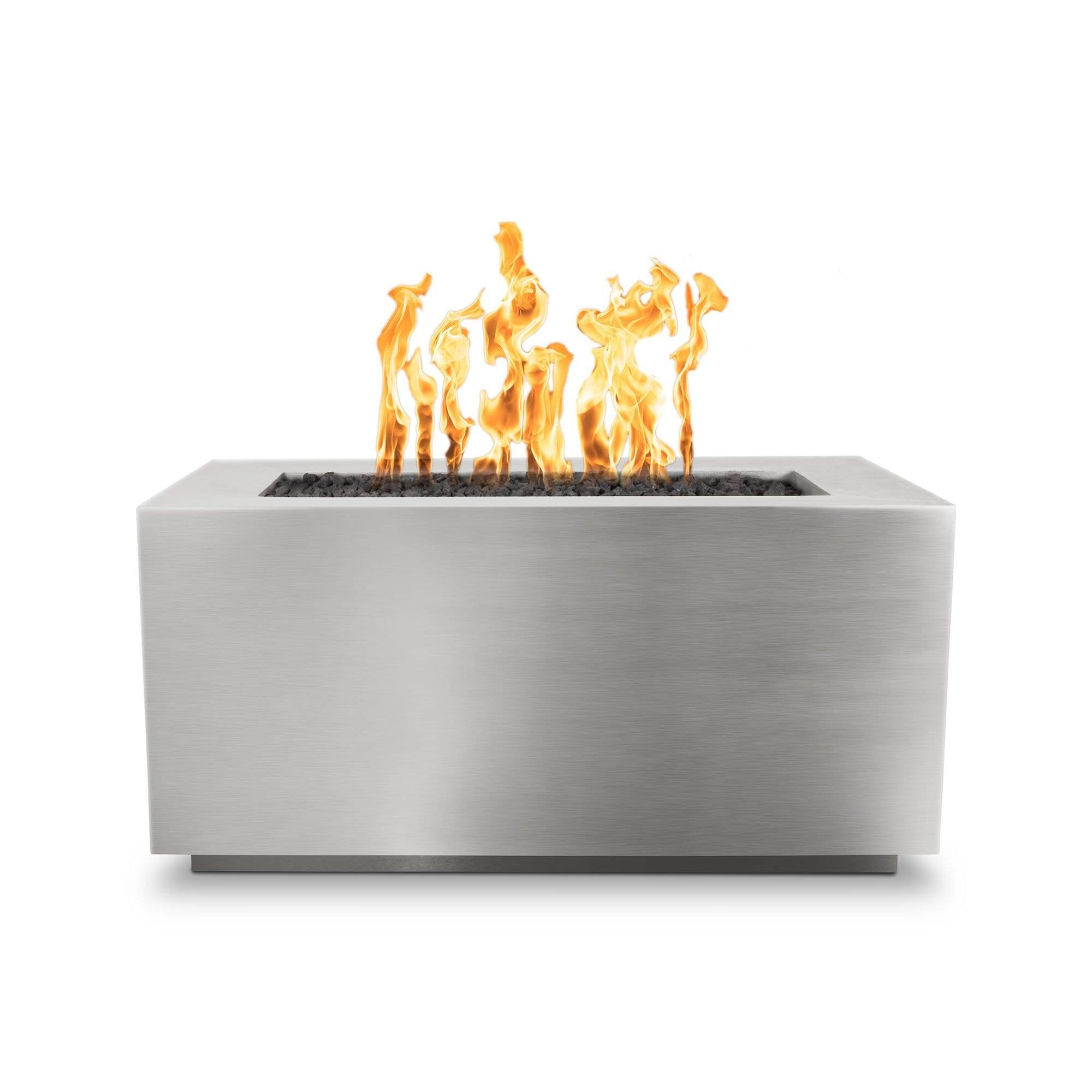 The Outdoor Plus Pismo Metal Fire Pit OPT-R8424 Fire Pit The Outdoor Plus Stainless Steel Electronic Ignition Natural Gas