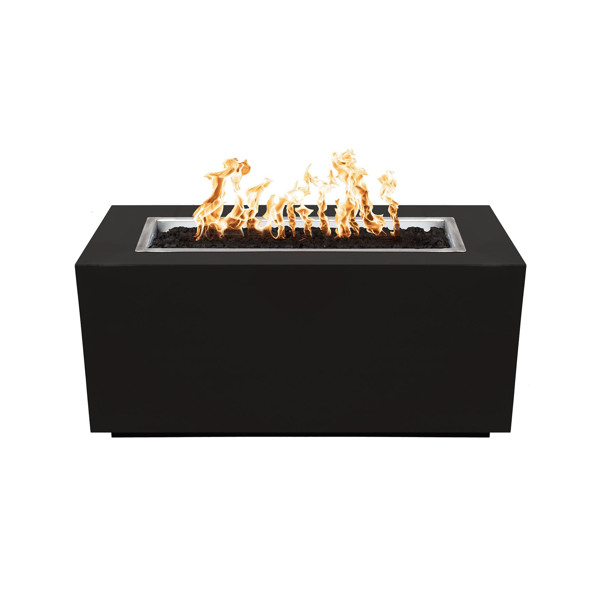 The Outdoor Plus Pismo Metal Fire Pit OPT-R8424 Fire Pit The Outdoor Plus Black Powdercoat Electronic Ignition Natural Gas