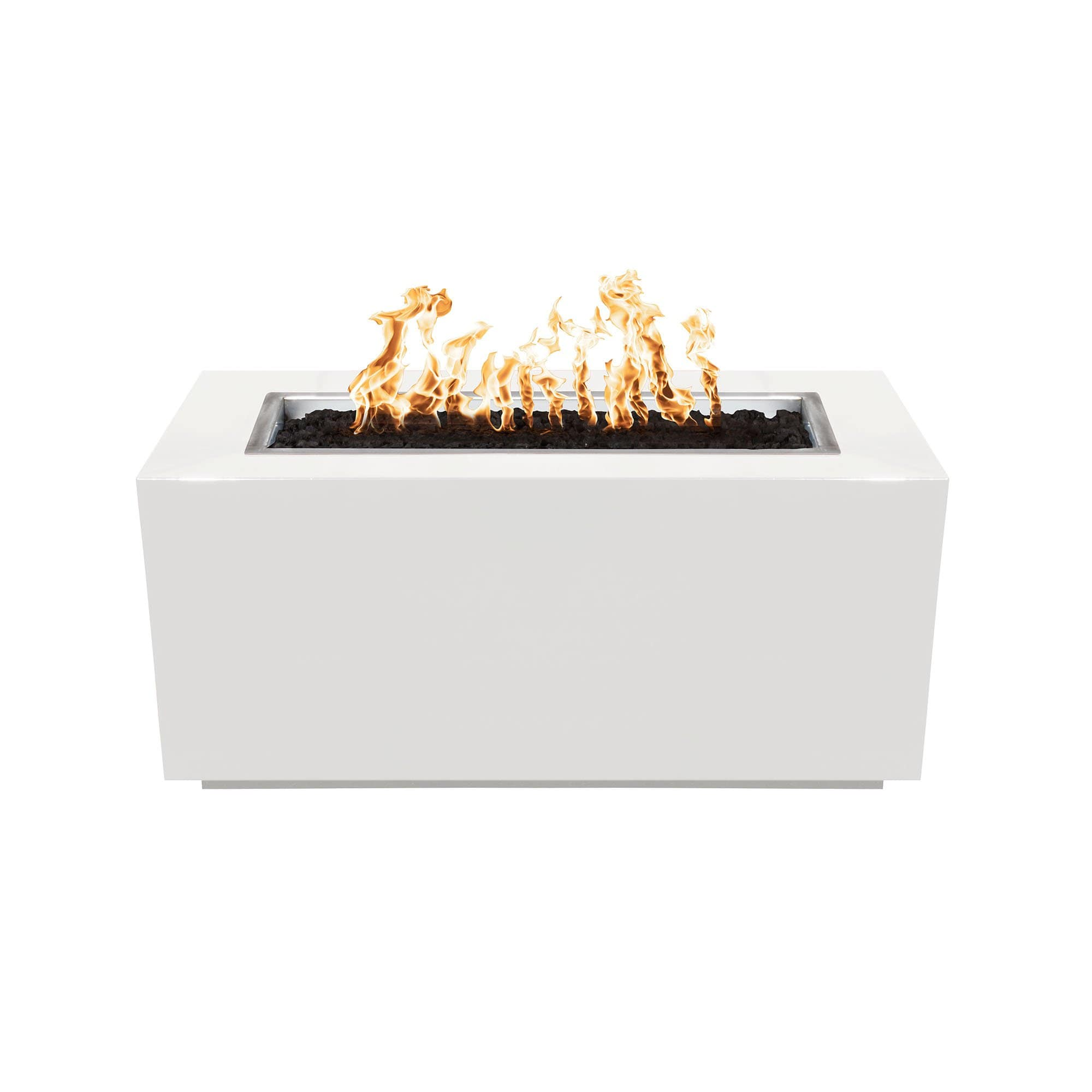 The Outdoor Plus Pismo Metal Fire Pit OPT-R8424 Fire Pit The Outdoor Plus White Powdercoat Electronic Ignition Natural Gas