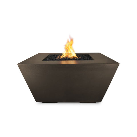 "Image of The Outdoor Plus Redan 50"" Concrete Fire Pit OPT-RDN50 Fire Pit The Outdoor Plus Chocolate Electronic Ignition Natural Gas"