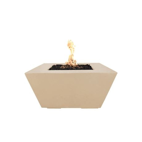 "Image of The Outdoor Plus Redan 50"" Concrete Fire Pit OPT-RDN50 Fire Pit The Outdoor Plus Vanilla Electronic Ignition Natural Gas"