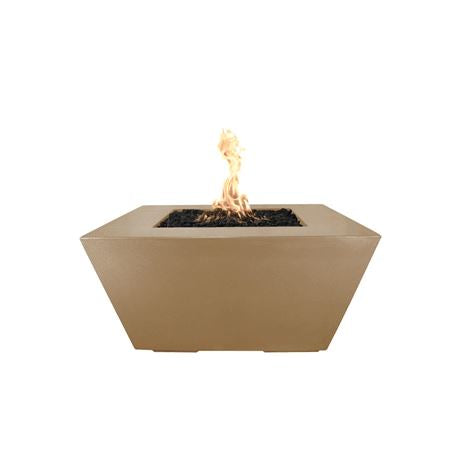 "Image of The Outdoor Plus Redan 50"" Concrete Fire Pit OPT-RDN50 Fire Pit The Outdoor Plus Brown Electronic Ignition Natural Gas"