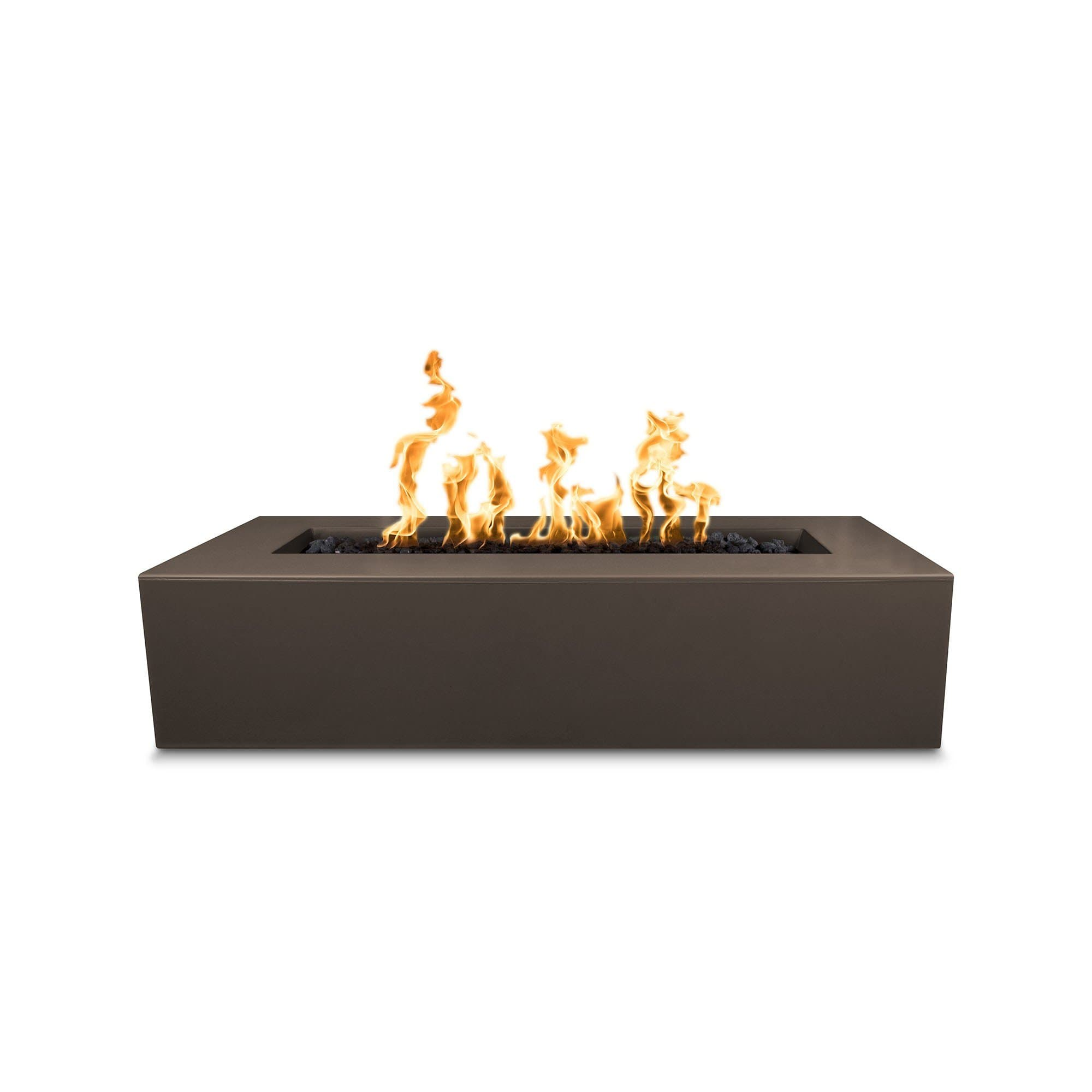 "The Outdoor Plus Regal 54"" Concrete Fire Pit OPT-RGL54 Fire Pit The Outdoor Plus Chocolate Electronic Ignition Natural Gas"