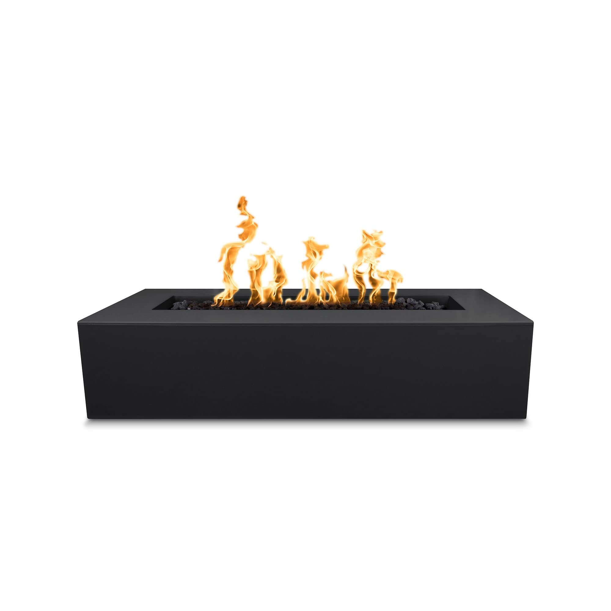 "The Outdoor Plus Regal 54"" Concrete Fire Pit OPT-RGL54 Fire Pit The Outdoor Plus Black Electronic Ignition Natural Gas"