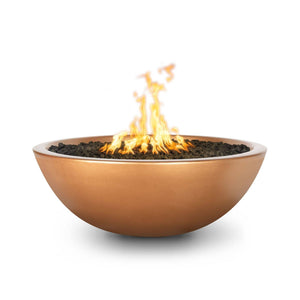 The Outdoor Plus Sedona Concrete Fire Pit OPT-SED60 Fire Pit The Outdoor Plus Metallic Copper Electronic Ignition Natural Gas