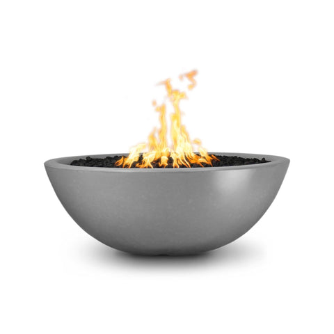 Image of The Outdoor Plus Sedona Concrete Fire Pit OPT-SED60 Fire Pit The Outdoor Plus Natural Gray Electronic Ignition Natural Gas