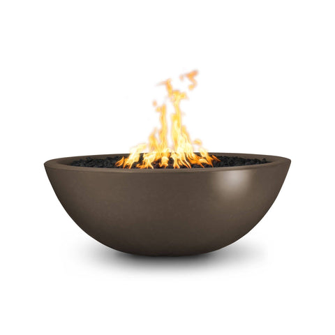 Image of The Outdoor Plus Sedona Concrete Fire Pit OPT-SED60 Fire Pit The Outdoor Plus Chocolate Electronic Ignition Natural Gas