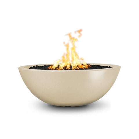 Image of The Outdoor Plus Sedona Concrete Fire Pit OPT-SED60 Fire Pit The Outdoor Plus Vanilla Electronic Ignition Natural Gas