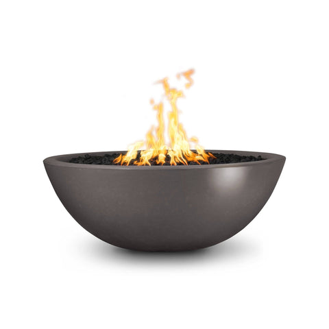 Image of The Outdoor Plus Sedona Concrete Fire Pit OPT-SED60 Fire Pit The Outdoor Plus Chestnut Electronic Ignition Natural Gas