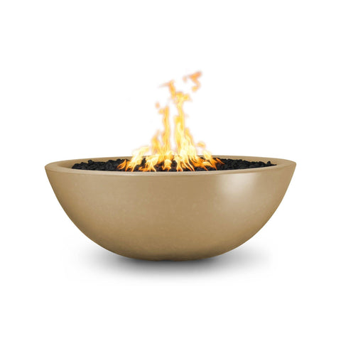 Image of The Outdoor Plus Sedona Concrete Fire Pit OPT-SED60 Fire Pit The Outdoor Plus Brown Electronic Ignition Natural Gas