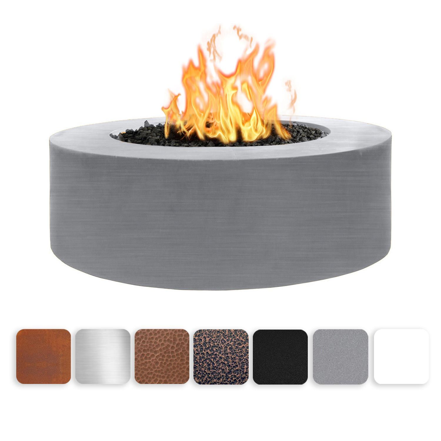 The Outdoor Plus Unity Metal Fire Pit OPT-UNY-60 Fire Pit The Outdoor Plus Match Light Natural Gas Gray Powdercoat