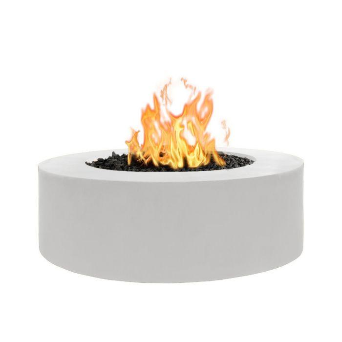 The Outdoor Plus Unity Metal Fire Pit OPT-UNY-60 Fire Pit The Outdoor Plus Match Light Natural Gas White Powdercoat