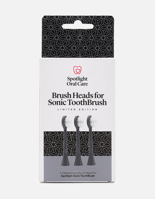 Graphite Grey Sonic Toothbrush Replacement Heads