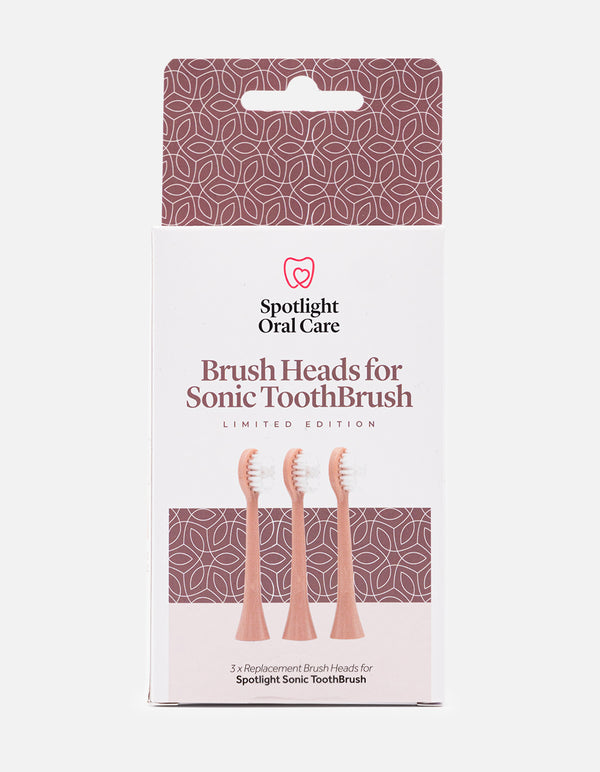 Rose Gold Sonic Toothbrush Replacement Heads