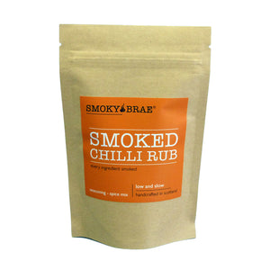 80g Pouch of Smoked Chilli Flakes by Smoky Brae for flavouring meats and vegetables