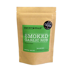 80g Pouch of Smoked Garlic Rub for flavouring meats and vegetables by Smoky Brae