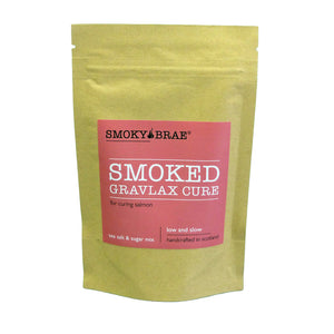 100g Pouch of a Smoked Gravadlax Cure Mix for curing Salmon or Trout, Smoky Brae