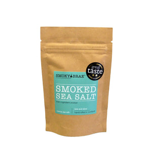 100g Pouch of Smoked Sea Salt by Smoky Brae for seasoning steak, eggs & tomatoes