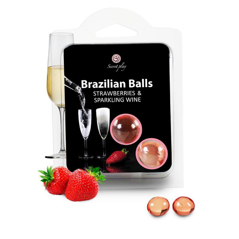 Secret Play Set 2 Brazilian Balls Aroma Fresas Cava