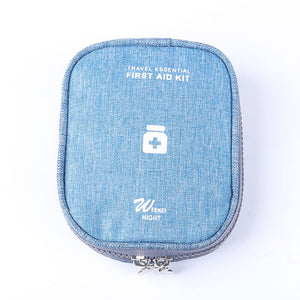 blue First Aid Travel Case