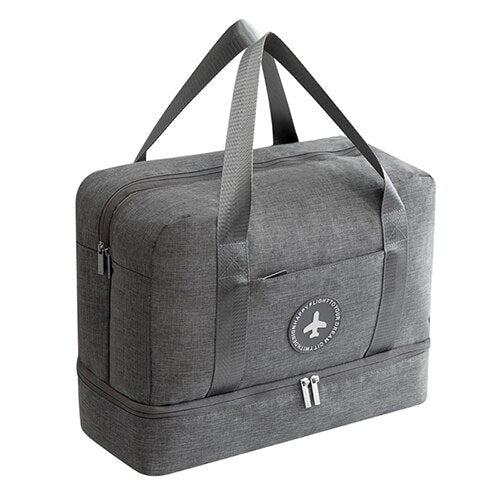 Grey  Travel Handle Bag